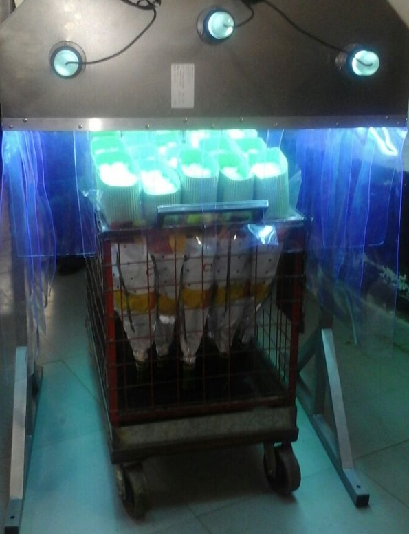 UV disinfection tunnel