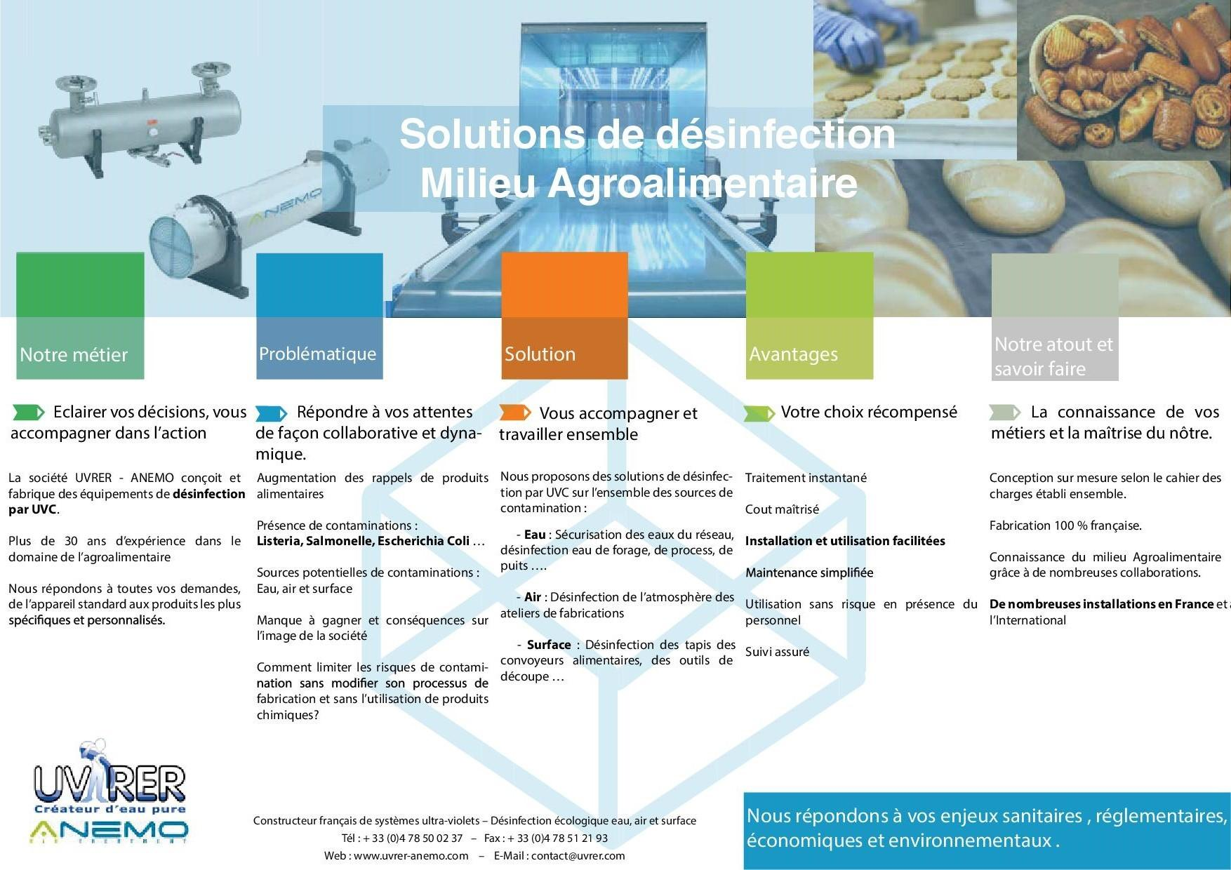 Désinfection agroalimentaire